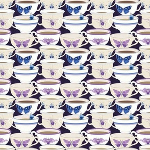 Bugs & Teacups - Purples and Blues - Small