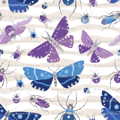 The Bug Invasion - Purple and Blues - Small