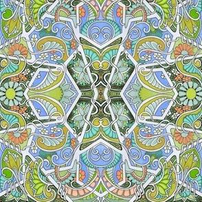 Twisted Hexagon Garden