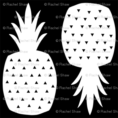 pineapples_black_white_3x3