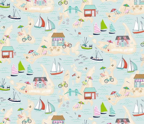 Summer on the Islands fabric by jillbyers on Spoonflower - custom fabric