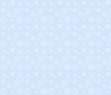 Peguin Wedding Snowflakes on Blue fabric by spicetree on Spoonflower - custom fabric