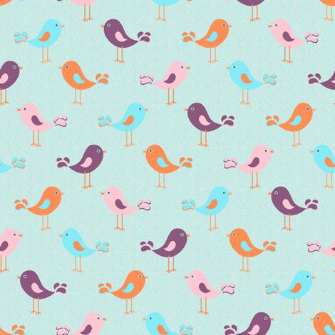 Flying Islands Coordinate (Birds) fabric by vannina on Spoonflower - custom fabric