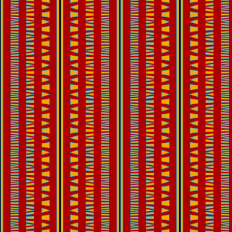 Tribal Celebrant (Red) fabric by david_kent_collections on Spoonflower - custom fabric