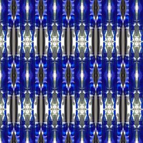 Blue bottles mirrored