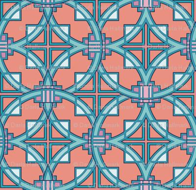 Pueblo Deco style, in adobe