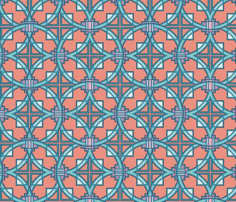 Pueblo Deco style, in adobe fabric by hannafate on Spoonflower - custom fabric