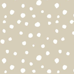 large scale dots - tan