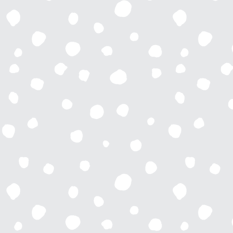 large scale dots - grey fabric by ali*b on Spoonflower - custom fabric