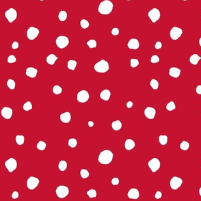 large scale dots - red