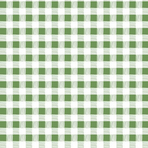 gingham - lawn green