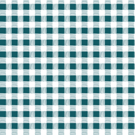 gingham - teal blue fabric by ali*b on Spoonflower - custom fabric