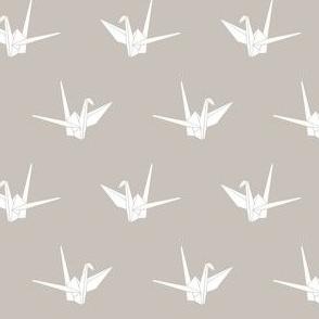 Origami Cranes: Warm Gray