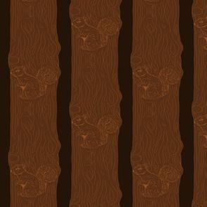 Wood work squirrel