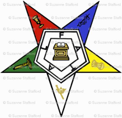 "Med. 1"" Eastern Star Standard Symbol"