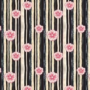 Woodlands Floral Stripe
