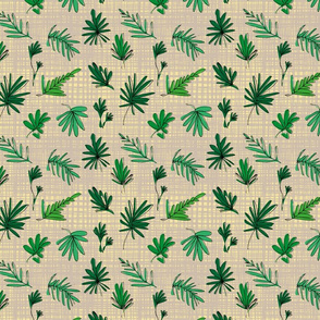 Sketchy Palm Leaves