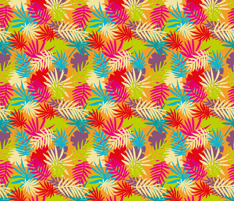 Bright Palm Leaves fabric by seesawboomerang on Spoonflower - custom fabric