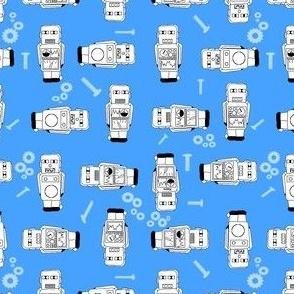 mecanic blue robot