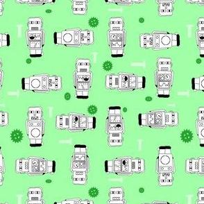 green vintage robot