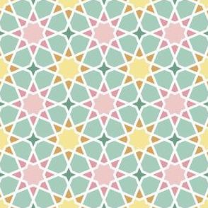 octagonal spring flower geometric