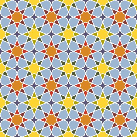 pale autumn octagonal stars fabric by sef on Spoonflower - custom fabric