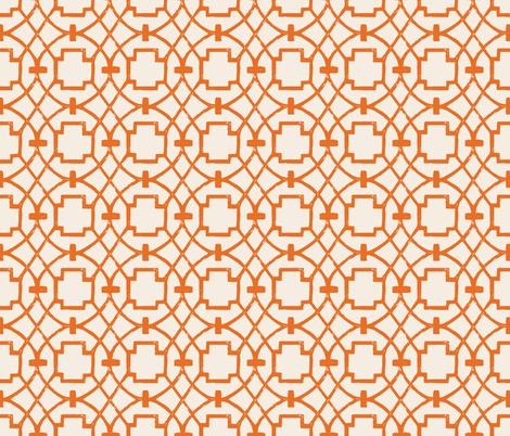 Trellagio Tangerine fabric by brainsarepretty on Spoonflower - custom fabric