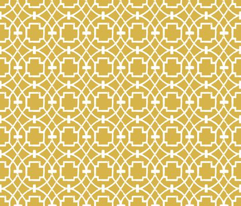 Trellagio Mustard fabric by brainsarepretty on Spoonflower - custom fabric