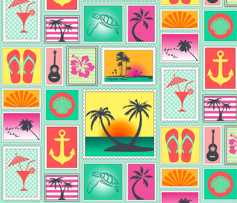 This Is My Island In The Sun fabric by lovelyjubbly on Spoonflower - custom fabric