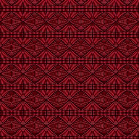 Boxed in Braids Orange fabric by eve_catt_art on Spoonflower - custom fabric