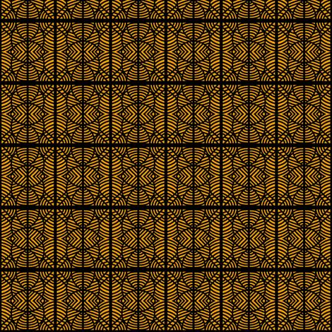 Fenced In Gold Black fabric by eve_catt_art on Spoonflower - custom fabric