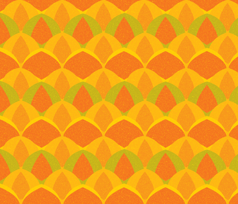 Hawaiian Pineapple fabric by owlandchickadee on Spoonflower - custom fabric