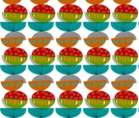 Mid-Century Modern Half Moons fabric by hot4tees_bg@yahoo_com on Spoonflower - custom fabric