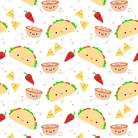 Taco Tuesday fabric by clayvision on Spoonflower - custom fabric