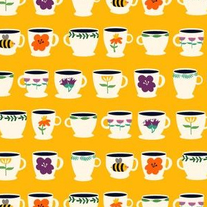 Tea Cups Yellow