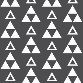 gray triangles