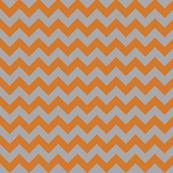 Orange and Grey Chevron