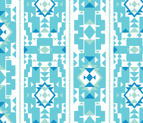 Cool_New_Mexico_Adobe_Stripe__Turquoise___Sea foam fabric by aygeartist on Spoonflower - custom fabric