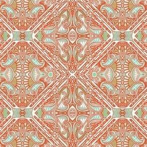 Paisley Swirl Checkerboard
