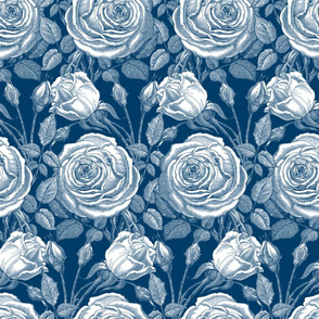 Perle des Jardins ~ Lonely Angel Blue and White