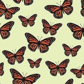 Monarch Butterflies (Spring Green)