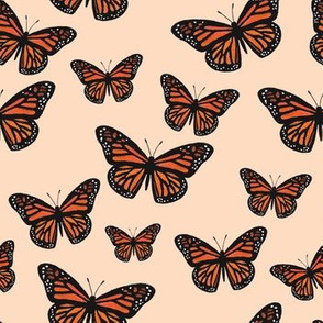 Monarch Butterflies (Peach)