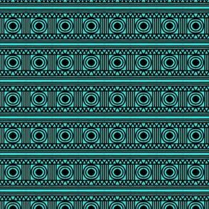 Rivets in Rows Aqua