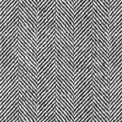 Herringbone Tweed in Black and White fabric by willowlanetextiles on Spoonflower - custom fabric