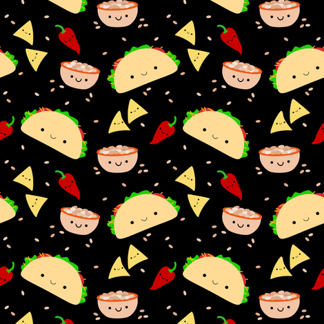 Taco Tuesday Party fabric by clayvision on Spoonflower - custom fabric