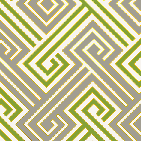 Athena in Luxe Green and Gray fabric by willowlanetextiles on Spoonflower - custom fabric