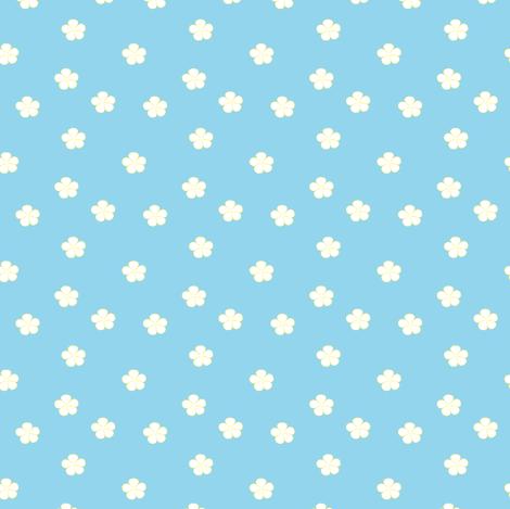 Plumeria - Blue fabric by clayvision on Spoonflower - custom fabric