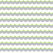 Nautical Coord- Scallops Lime Green