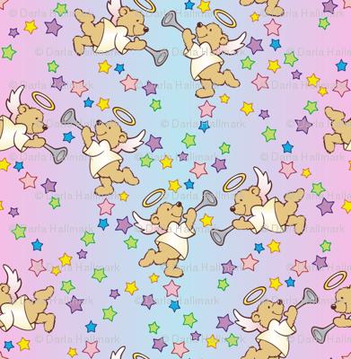 Baby shower angel bears