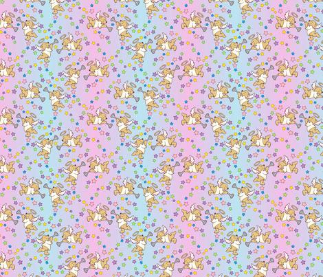 Baby shower angel bears fabric by hannafate on Spoonflower - custom fabric